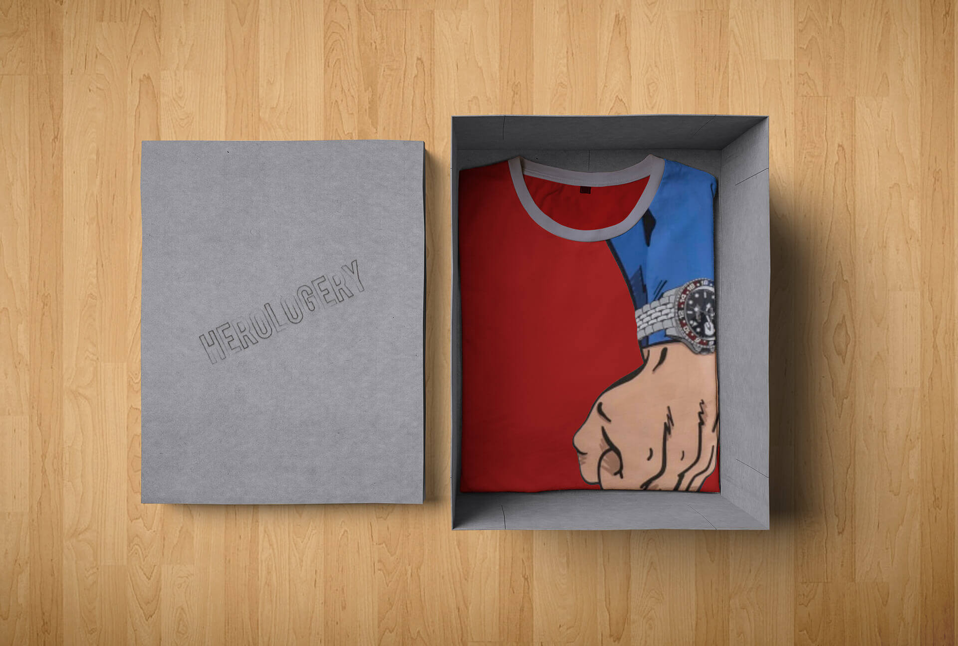 octa-portfolio-grafica--Herologery---Mockup-Packaging-T-Shirt-Superman-